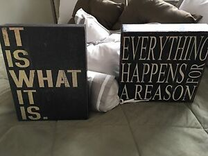 Free standing Home Decor Accent Signs
