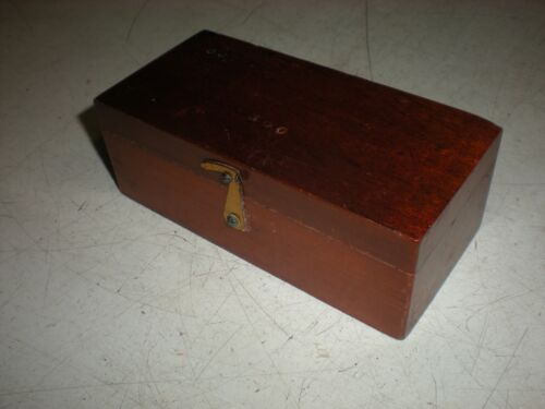 Weight Set - Wooden Box - Incomplete - Used at University of Iowa