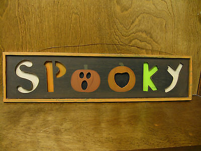 Transpac HALLOWEEN sign #H7602E SPOOKY, New from our Retail Store, 24