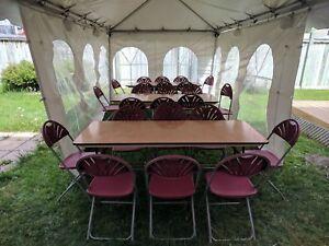 Party & Tent Rentals: Tents, tables, linens etc.