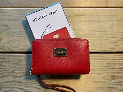 Michael Kors Red Zip Purse with Handle - New