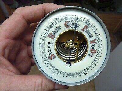 NICE OLD BAROMETER INSERT MOVEMENT- HAND- WORKING FINE (A7) FREE UK POST