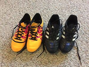 Size 3 baseball and soccer cleats.