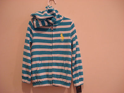 POLO Ralph Lauren   Girls HOODIE JACKET   Size-SMALL (7)  NWT    90%COTTON Polo Girls Hoodie Jacket