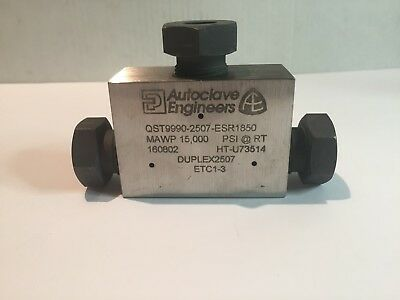 Autoclave Engineers Qst9990-2507-esr1850low Pressure Tee Fitting 916 15000psi