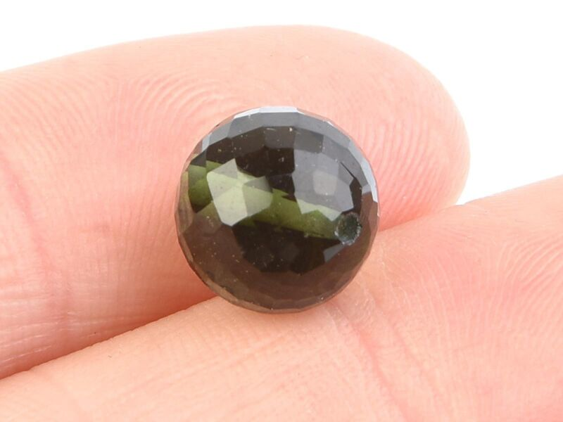 6.22g beads DRILLED MOLDAVITE FACETED CUTTED GEMS SET 5 PCS 10mm #BRUS1794