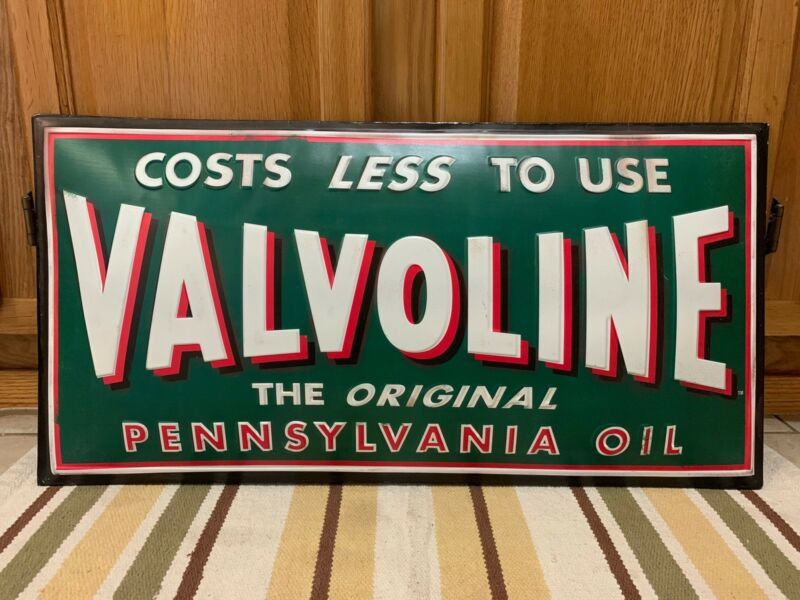 Valvoline Pennsylvania Oil Sign Motor Gas Pump Station Garage Vintage Style Pub
