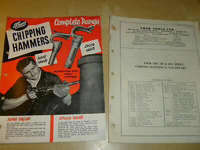 Vintage Thor Tools Chipping Hammers   Brochure / Leaflet + Parts List 7288E