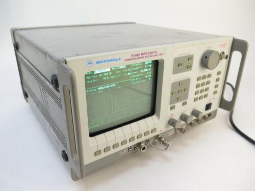 Motorola R2660A MIRS Communications Analyzer/Service Monitor w/ Opts.