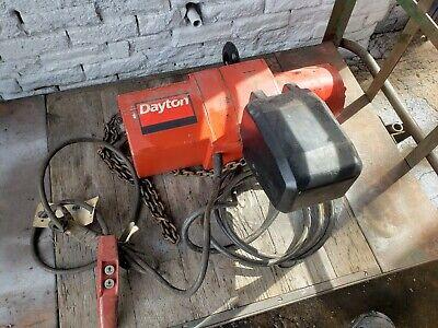 Dayton 3yb86 2 Ton 3 Phase Electric Chain Hoist Electric Lift 2t Nice