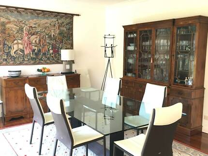 DINING ROOM CABINET AND SIDEBOARD