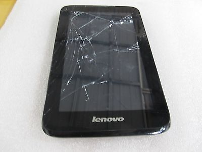 "Lenovo IdeaTab A1000-F 60041 8GB Wi-Fi 7"" Black Cracked Screen**Read (33007)"