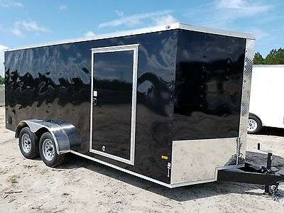 7x14 7 X 14 Enclosed Trailer Cargo Tandem V-nose Utility Motorcycle 12 In Stock
