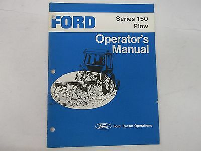 Ford Plow Series 150 Operators Manual