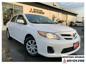 2013 Toyota Corolla LE; LOW KMS!