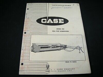Case Model 550 Pull Type Windrower Parts Manual Book Catalog