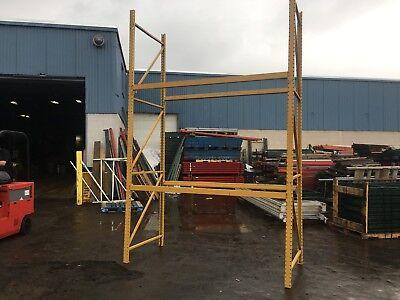 4 Sections Pallet Rack 32 L X 8t X 44 Deep Speedrack 5 Uprights 16 Beams