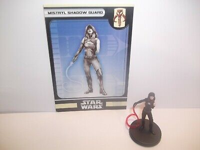 Star Wars Miniatures - Mistryl Shadow Guard 40/60 + Card - Bounty Hunters