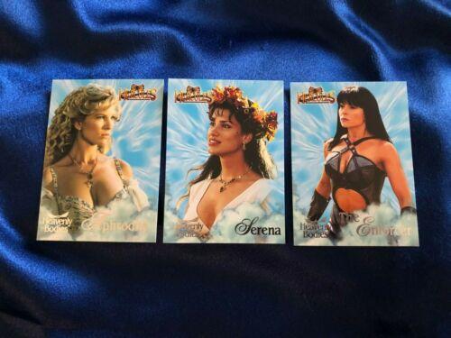 Hercules Rittenhouse Heavenly Bodies Cards: HB 3 Aphrodite, HB 4 Serena, HB9 Enf