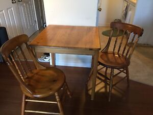 Wood table and chair ——sold——