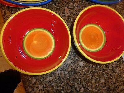 Lot of 2 Dansk Caribe aruba orange Soup Cereal Bow