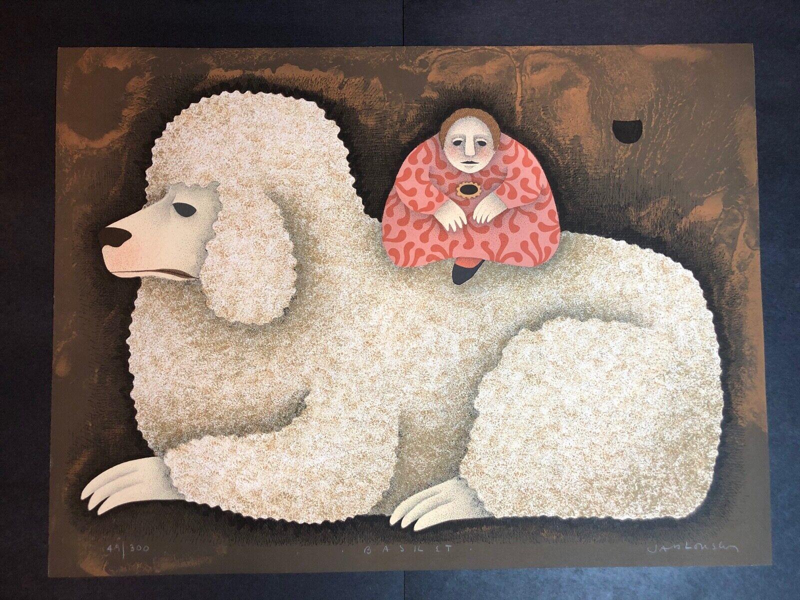 Carol Jablonsky Lithograph Art Print – Basilet Limited Edition 49/300 Art