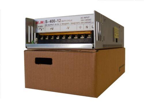 36 Amp 9 - 15 Volts DC Regulated Power Supply 30 V 40 Amp Peak Real MegaWatt® 12