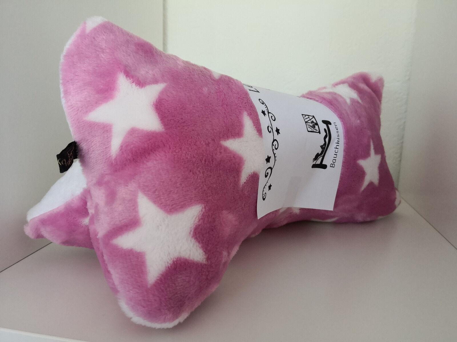 Leseknochen*Nackenkissen*Stützkissen*Reisekissen Kuschel-Sterne Rosa-Weiss Neu