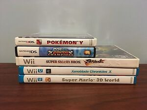 3DS device, Wii/Wii U, DS/3DS games