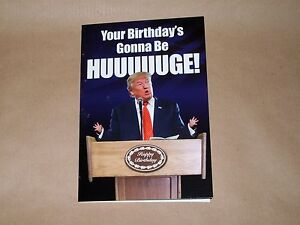 Comical birthday card (1190) - drama queen / DONALD TRUMP / republican