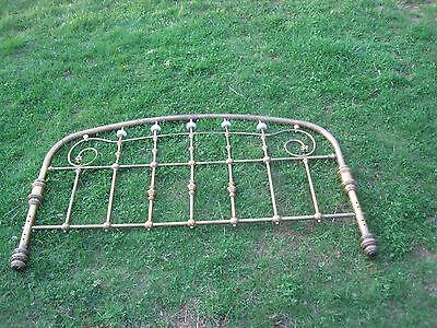 Vintage Soild Brass Queen Size Bed Headboard