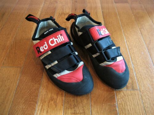 RED CHILI SPIRIT VCR CLIMBING SHOES BLACK RED SIZE UK4
