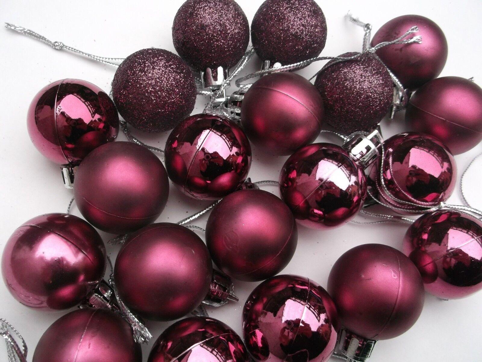 24 Christbaumkugeln Glas 6cm Weihnachtskugeln