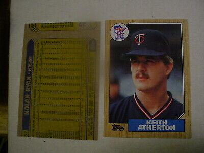 1987 # 757 Nolan Ryan Topps Houston Astros Pitcher Error Atherton on - Astros Pitcher