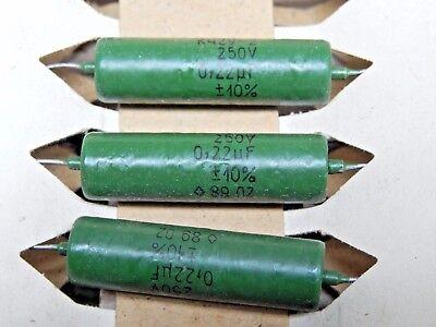 0.22uf 10 250v Audio Pio Capacitors K42y-2 K42y2 Nos.lot Of 10pcs.
