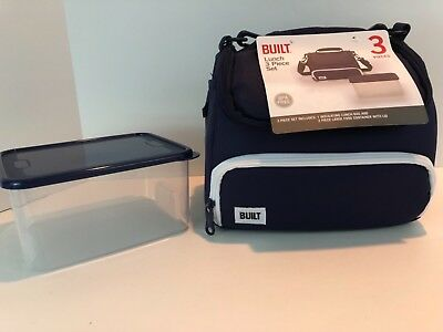 Built Ny Lunch Boxes - Built NY Prime Lunch Bag with Food Container Navy NWT