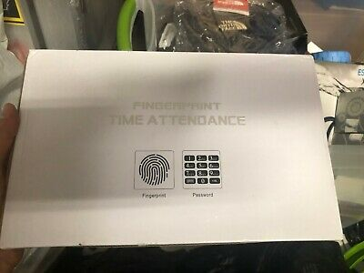 Fingerprint Time Clock Recorder Employee Punch Card Attendance Machine Us Stock