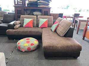 TODAY DELIVERY MODERN CHOCOLATE L SHAPED sofa set lounge couch Belmont Belmont Area Preview