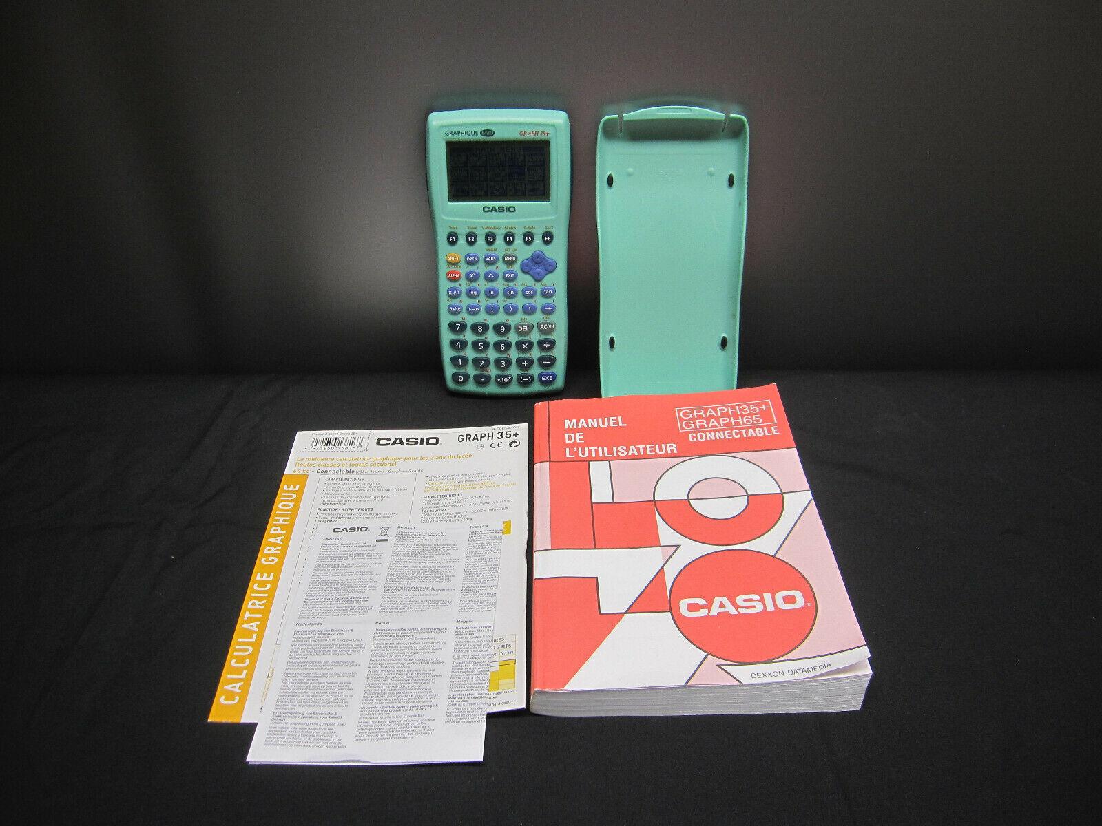 Casio Graph 35+ Taschenrechner grafisch - Zustand einwandfrei - mit Handbuch !!