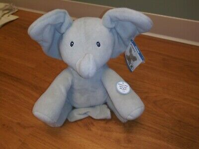 Baby GUND Flappy The Elephant Animated Plush Infant Toy WORKS