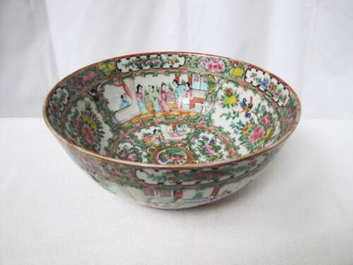 Antique Chinese mid 19 century Famille Rose punch bowl.