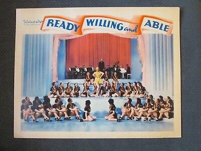 Ready Willing And Able    -   Original 1937  Lobby Card - Ruby Keeler