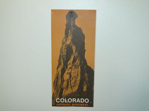 Vintage 1969 Colorado National Monument Brochure / Pamphlet - VG
