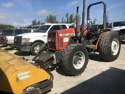 Massey Ferguson Mf 451 X4 Diesel Tractor W Pto Broom Street Sweeper Attachment