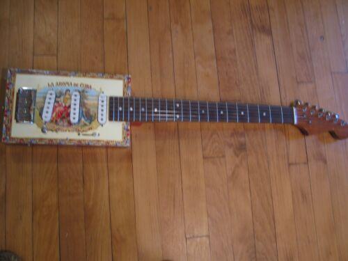 La Aroma Cigarbox Guitar Strat - 3 Pickups - Pro Grade Instrument