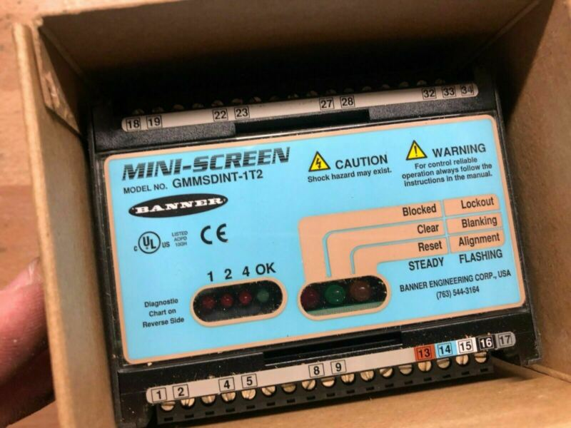 NEW IN BOX BANNER GMMSDINT-1T2 MINI SCREEN LIGHT CURTAIN CONTROLLER