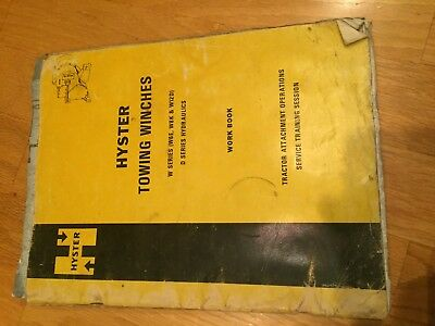 Hyster Winch Service Manual W6e W8l W12d Cat Dozer