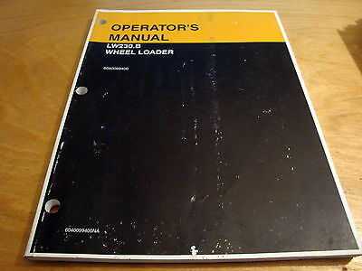 New Holland Lw230.b Wheel Loader Operators Owners Manual Nh