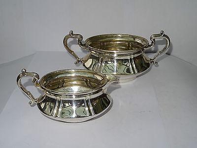 Antique Silver Plated Sugar Bowl & Milk Jug by Briddon Brothers