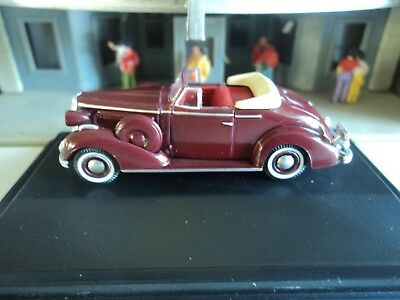 Oxford  1936  BUICK SPECIAL CONVERTIBLE  Maroon  1/87  HO  diecast car  GM    (Maroon Diecast Car)